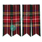 Black Stewart Tartan Kilt Hose Socks Flashes