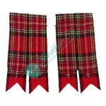 Royal Stewart Tartan Kilt Hose Socks Flashes