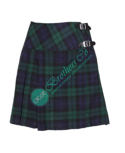 Ladies Black Watch Scottish Mini Kilt Skirt