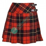 Ladies Wallace Tartan Mini Kilt Skirt