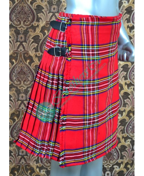 Men Scottish Royal Stewart Tartan Kilt