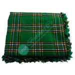 Irish National Tartan Bagpiper Kilt Fly Plaid