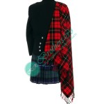 Wallace Scottish Tartan Bagpiper Drummer Kilt Fly Plaid