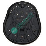 Leaf Studded Gothic Kilt Leather Sporran