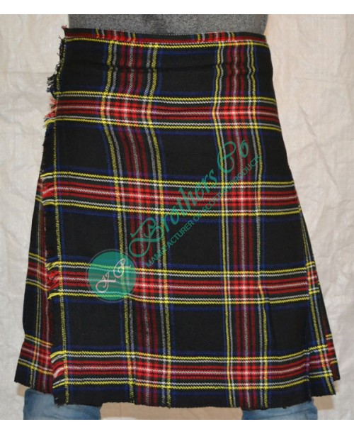 Black Stewart Scottish Traditional Clan Tartan