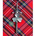 Shamrock Design Kilt Pin