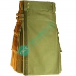 Latest Modern Style Olive Green Utility Kilt for working Men